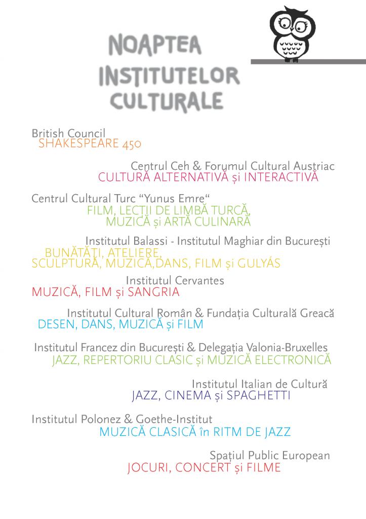 Noaptea Institutelor Culturale la București