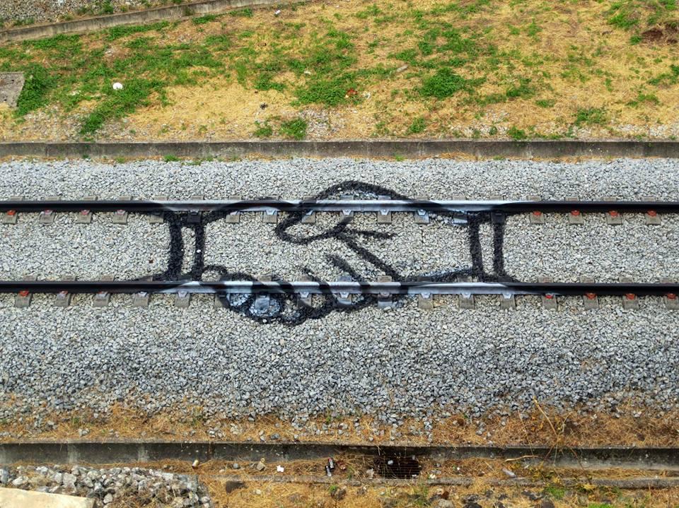 Graffiti pe calea ferată