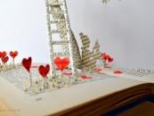 10 sculpturi incredibile realizate din carti