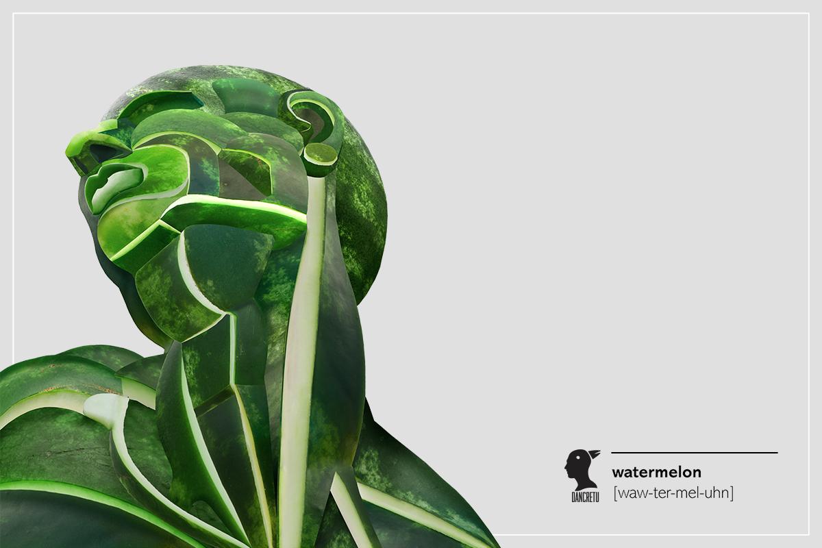 Părți anatomice umane create din fructe si legume de Dan Cretu www.weart.ro