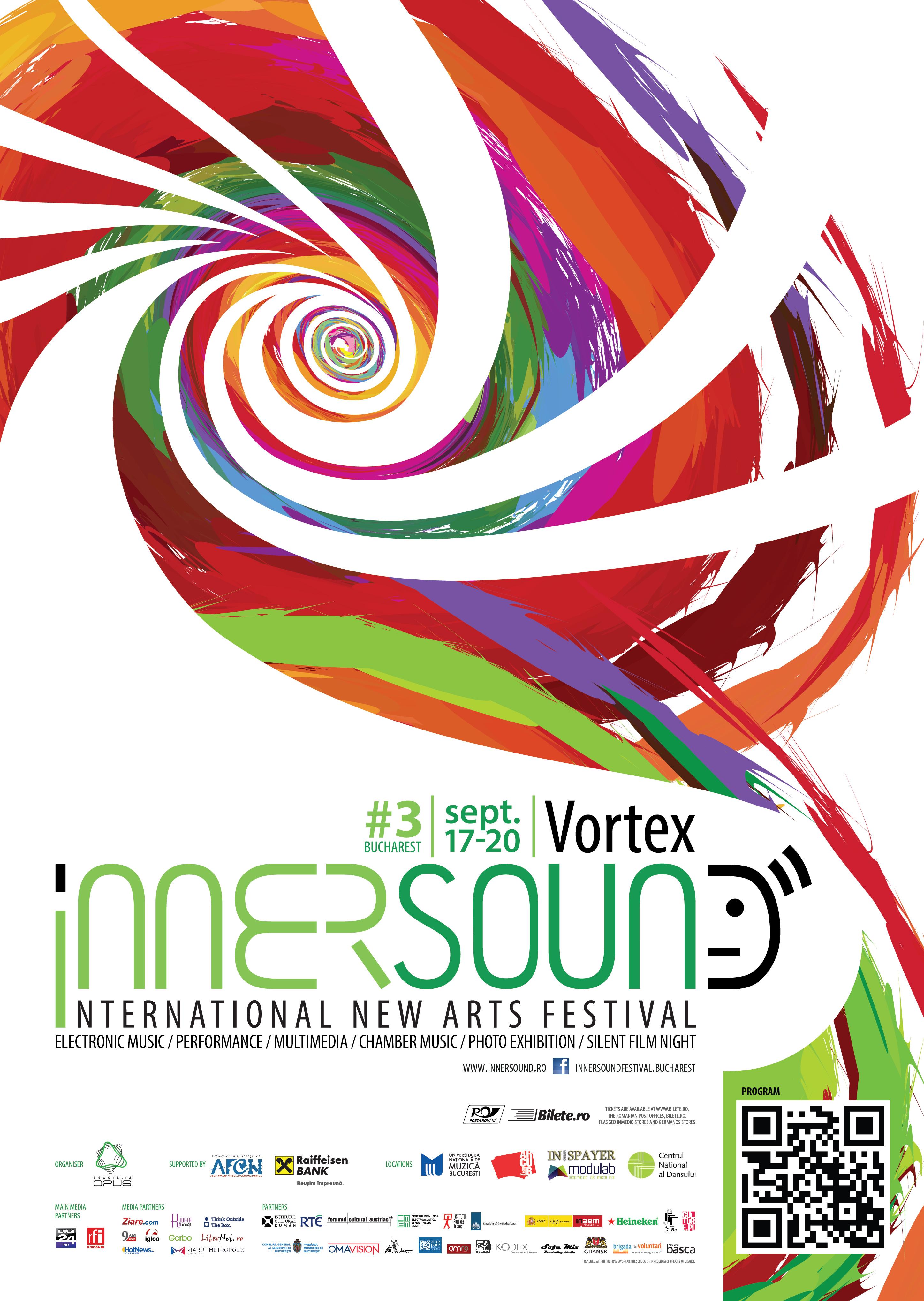 Festivalul Internaţional de Arte Noi InnerSound aduce la București peste 70 de artiști din 10 țări!