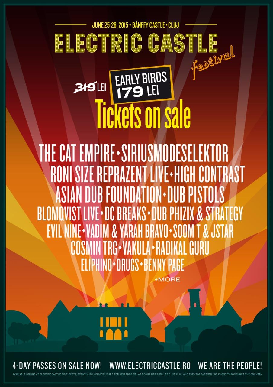 Primii artisti confirmati la Electric Castle Festival 2015