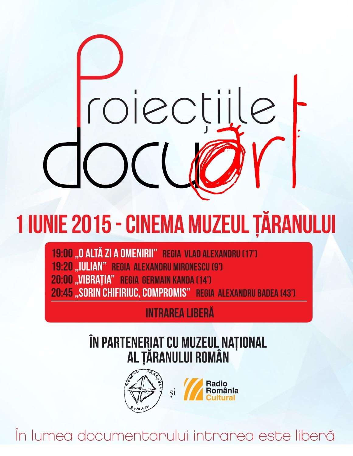 Proiecțiile Docuart vor fi vizionate gratuit la Cinema Muzeul Țăranului